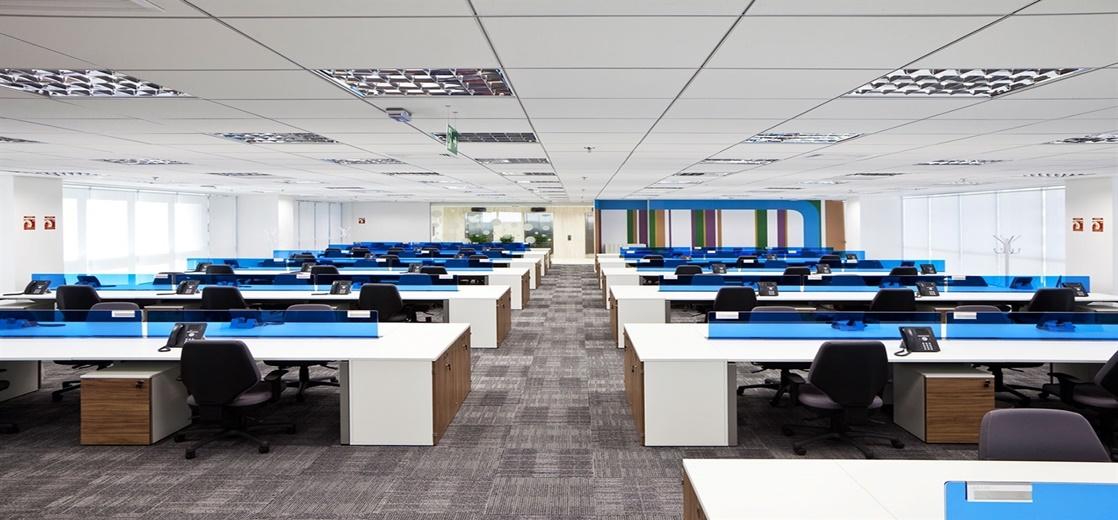 Turn Key, chave na mão, infraestrutura para escritórios corporativos mediante a contrato de locação